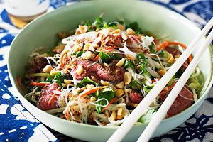 Vietnamese-style beef and noodle salad