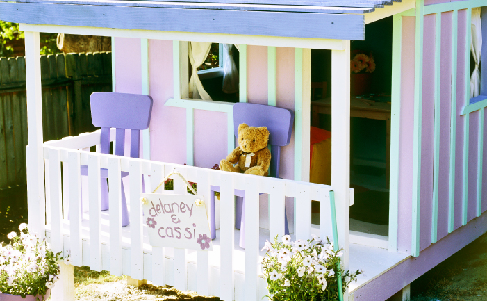 colourful cubby house
